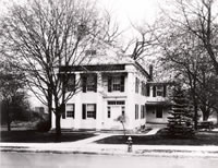 The Bethel Free Public Library c. 1930                                                                                                                                                   Note the field to the left of the library.