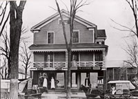 Walker Ferry's Shoe Store c. 1890.... This still-extant three-story building at 12 Chestnut Street, dating from before 1851, was once owned by Walker Ferry. It housed his shoe store, McDowell's Meat Market and a two-level residence