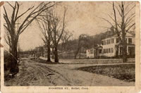 Old Shepaug Railroad Tressle crossing over Wooster Street.  The Shepaug ceased operation in 1911.